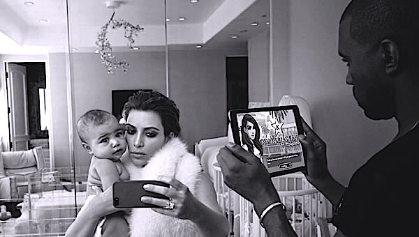 kim kardashian north west and kanye west (1)